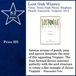 Lost Oak, Bingham Vnyd, 2012