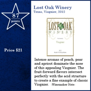 Lost Oak, Viognier, 2012