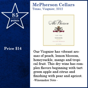 McPherson Cellars, Texas, 2012