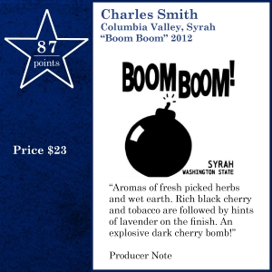 "Charles Smith Columbia Valley, Syrah ""Boom Boom"" 2012"