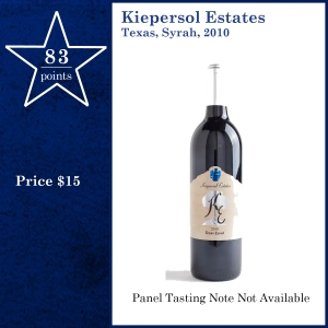 Kiepersol Estates Texas, Syrah, 2010