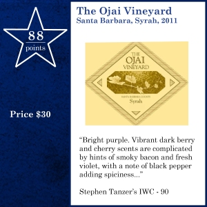 The Ojai Vineyard Santa Barbara, Syrah, 2011