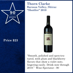 "TXvTW-Thorn Clarke Barossa Valley, Shiraz ""Shotfire"" 2010"