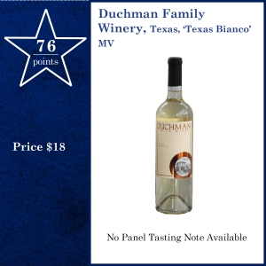 Duchman Family  Winery, Texas, 'Texas Bianco' MV