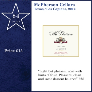 McPherson Cellars Texas, 'Les Copians, 2012
