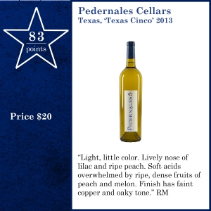Pedernales Cellars Texas, 'Texas Cinco' 2013