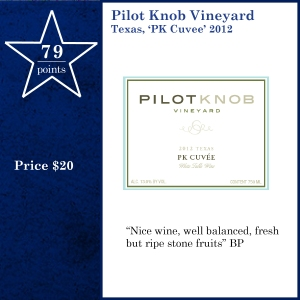 Pilot Knob Vineyard Texas, 'PK Cuvee' 2012