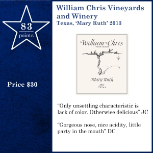 William Chris Vineyards and Winery  Texas, 'Mary Ruth' 2013